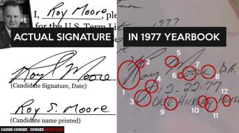 Roy Moore Signature Proof